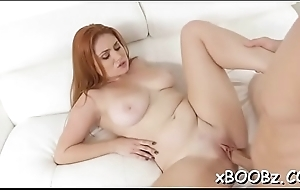 Busty chick goes wild during crestfallen sex