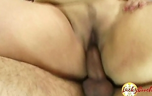 Fat chubby asian stepdaughter fucked hard by elder guy approximately meaty pussy til facial